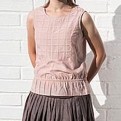 Одежда ручной работы. Ярмарка Мастеров - ручная работа Розовая батистовая майка. Handmade.