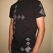 Одежда ручной работы. Ярмарка Мастеров - ручная работа футболка с орнаментом. Handmade.