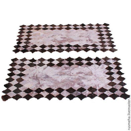 Текстиль, ковры ручной работы. Ярмарка Мастеров - ручная работа. Купить Меховые коврики для спальни Код: 710. Handmade. Серый