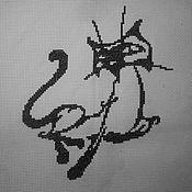 """Картины и панно ручной работы. Ярмарка Мастеров - ручная работа Вышитая картина """"Его величество Кот"""". Handmade."""