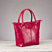 """Классическая сумка ручной работы. Ярмарка Мастеров - ручная работа Женская кожаная сумочка """"Rouse"""" красная. Handmade."""