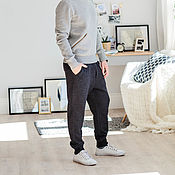 Одежда handmade. Livemaster - original item Men`s pants dark gray color.Men`s pants dark gray color.. Handmade.