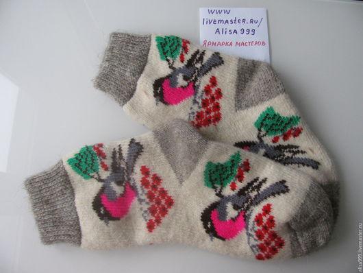 Носки, Чулки ручной работы. Ярмарка Мастеров - ручная работа. Купить Женские шерстяные носки из овечьей шерсти и ангоры. Handmade.