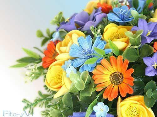 Цветы ручной работы. Ярмарка Мастеров - ручная работа. Купить Цветы с дачи: Букетик с календулой и цикорием. Handmade. Лето, летний