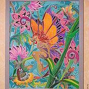 """Картины и панно ручной работы. Ярмарка Мастеров - ручная работа батик """"откровение"""". Handmade."""