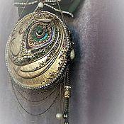 Для дома и интерьера ручной работы. Ярмарка Мастеров - ручная работа Le Paon интерьерный медальон из керамики. Handmade.