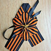 Украшения ручной работы. Ярмарка Мастеров - ручная работа Брошь 9 мая георгиевская лента. Handmade.