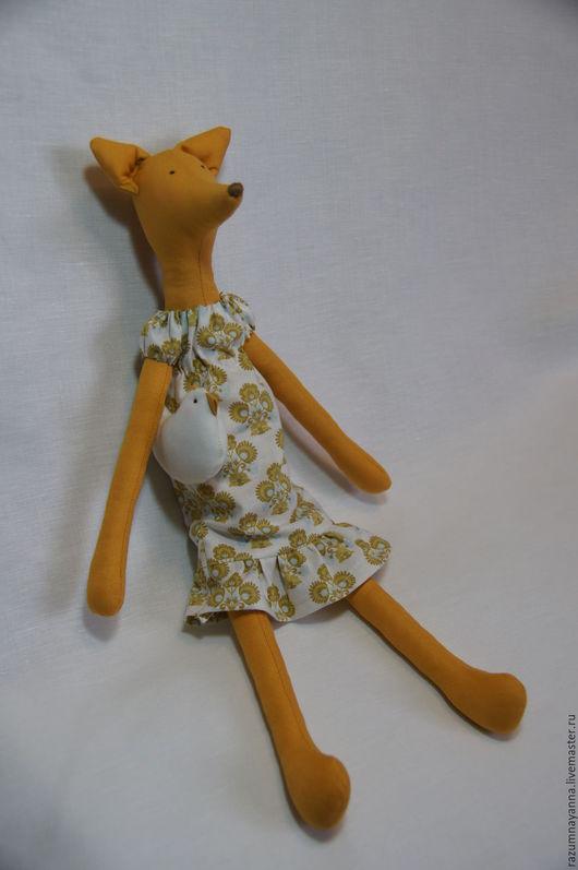 Куклы Тильды ручной работы. Ярмарка Мастеров - ручная работа. Купить Лисичка с курочкой. Handmade. Лиса, игрушка текстильная, Рыжая
