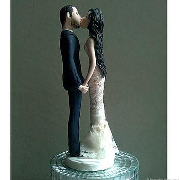 """Свадебный салон ручной работы. Ярмарка Мастеров - ручная работа Фигурки на свадебный торт """"Нежнее нежного"""" свадебный торт. Handmade."""