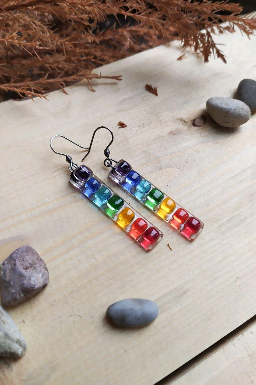 Earrings 'Rainbow', Earrings, St. Petersburg,  Фото №1