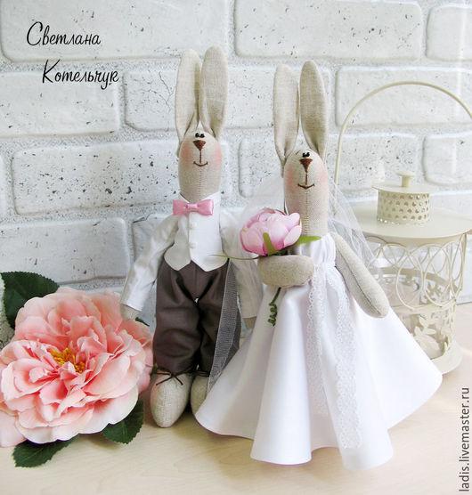 Подарки на свадьбу ручной работы. Ярмарка Мастеров - ручная работа. Купить Свадебные зайки. Handmade. Белый, свадебный подарок