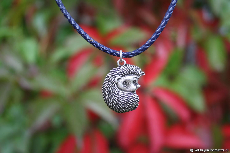 Hedgehog pendant 925 silver, Pendants, Moscow,  Фото №1