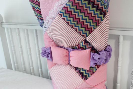 Пледы и одеяла ручной работы. Ярмарка Мастеров - ручная работа. Купить Лоскутное одеяло, конверт на выписку. Handmade. Комбинированный