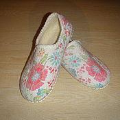 Обувь ручной работы. Ярмарка Мастеров - ручная работа Валяные тапочки , 37 размер. Handmade.