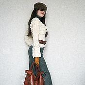 Одежда ручной работы. Ярмарка Мастеров - ручная работа Свитер с шишками и косами. Handmade.