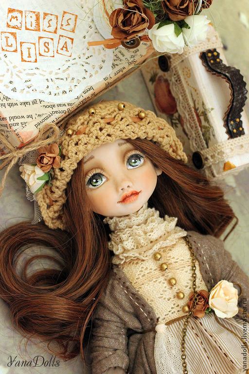 Коллекционные куклы ручной работы. Ярмарка Мастеров - ручная работа. Купить Lisa. Handmade. Бежевый, кукла в подарок, хлопок, батист