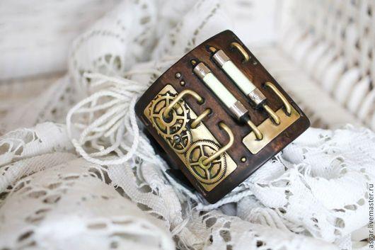 Браслеты ручной работы. Ярмарка Мастеров - ручная работа. Купить Браслет в стиле steampunk. По мотивам часов.. Handmade. часы