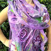 Аксессуары handmade. Livemaster - original item Tippet-gossamer felted on silk