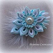 Hairpins handmade. Livemaster - original item Barrette clip Blue breeze. Handmade.