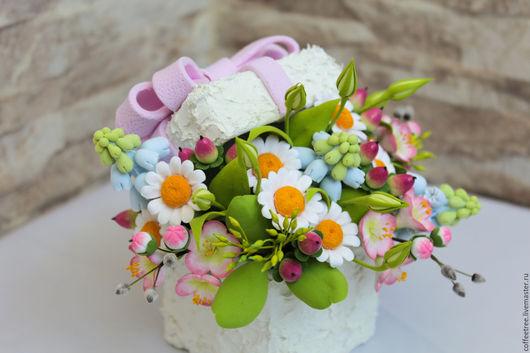 Цветы ручной работы. Ярмарка Мастеров - ручная работа. Купить 8 марта. Handmade. Комбинированный, нежный букет