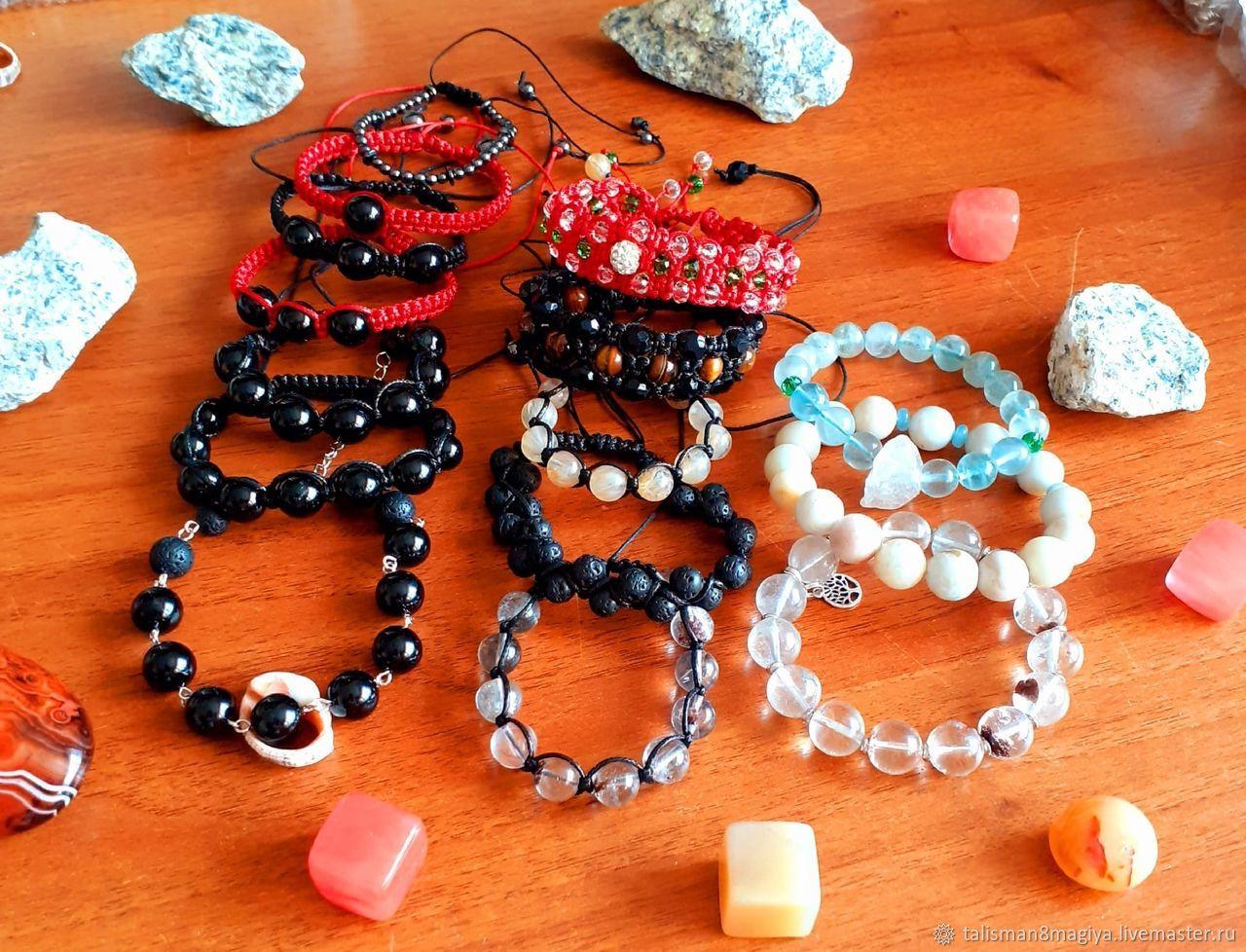 Shambhala bracelet with natural stones according to your horoscope or wish.Tourmaline, Bead bracelet, Moscow,  Фото №1