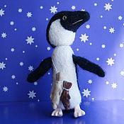 Куклы и игрушки ручной работы. Ярмарка Мастеров - ручная работа Пингвин игрушка, 10см. Handmade.