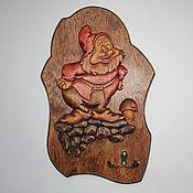 """Для дома и интерьера ручной работы. Ярмарка Мастеров - ручная работа Ключница """"Гном и гриб"""". Handmade."""
