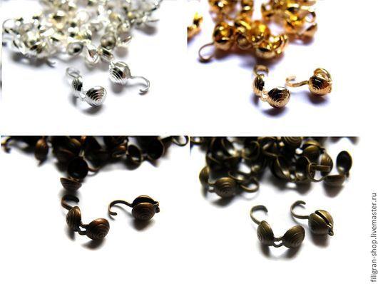 Для украшений ручной работы. Ярмарка Мастеров - ручная работа. Купить Каллоты 5 мм, серебро, золото, медь, бронза. Handmade.
