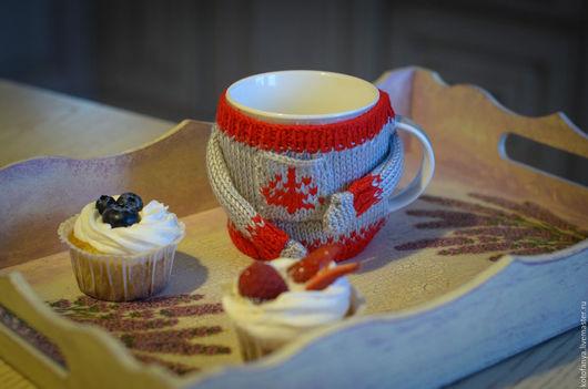 Персональные подарки ручной работы. Ярмарка Мастеров - ручная работа. Купить Кружка в свитере. Handmade. Серый, кружка, зима, чай