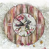 Для дома и интерьера ручной работы. Ярмарка Мастеров - ручная работа Часы Старый дворик_пионы. Handmade.