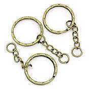 Материалы для творчества ручной работы. Ярмарка Мастеров - ручная работа кольцо для ключей. Handmade.