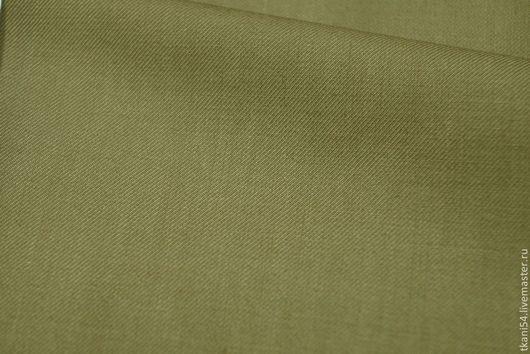 Шитье ручной работы. Ярмарка Мастеров - ручная работа. Купить Ткань костюмная гл/краш., 150 см, оливковый. Handmade. Оливковый