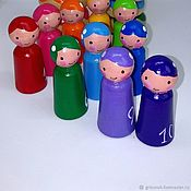 Куклы и игрушки handmade. Livemaster - original item Montessori sorter Feechka the deficit to 10 Wooden toy. Handmade.