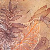 Картины и панно ручной работы. Ярмарка Мастеров - ручная работа Батик картина панно Палеоморе. Картина на шелке. Умиротворение.. Handmade.