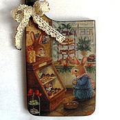 """Для дома и интерьера ручной работы. Ярмарка Мастеров - ручная работа Подвеска на ручку двери """"Кролик в кондитерской"""". Handmade."""