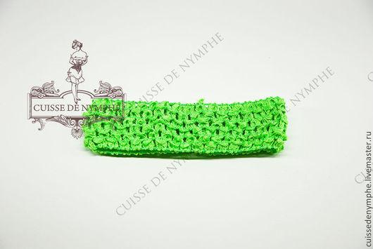 Шитье ручной работы. Ярмарка Мастеров - ручная работа. Купить Повязка на голову, зеленый неон, 6037. Handmade. Топ