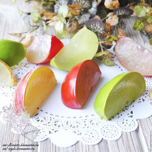 Материалы для флористики ручной работы. Ярмарка Мастеров - ручная работа. Купить Долька яблочка (3 расцветки). Handmade. Декор