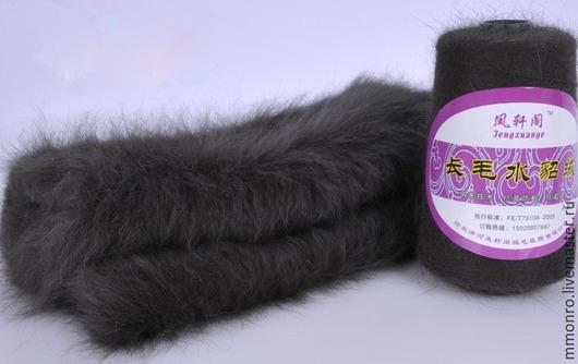 Вязание ручной работы. Ярмарка Мастеров - ручная работа. Купить Пряжа норка 100% (длиношерстная)2. Handmade. Однотонный, крючок