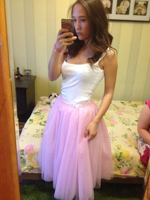 Пышная юбка розовая фото