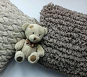 Для дома и интерьера ручной работы. Ярмарка Мастеров - ручная работа Подушка в вязаном чехле. Handmade.