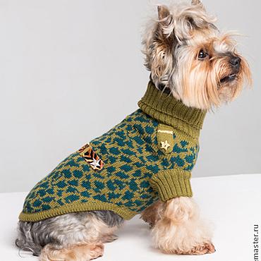 Для домашних животных, ручной работы. Ярмарка Мастеров - ручная работа Свитер для собак Military авторская работа. Handmade.