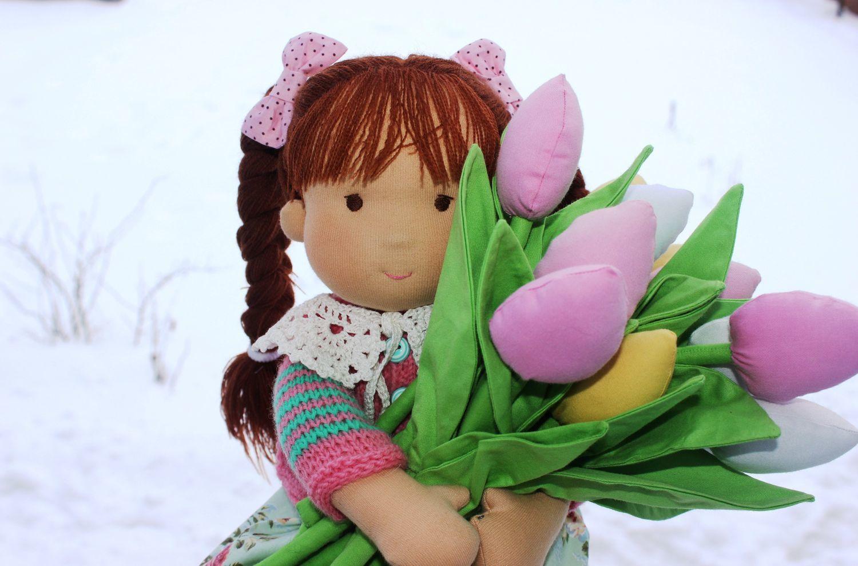 Вальдорфская кукла Лера, 38 см, Вальдорфские куклы и звери, Кострома,  Фото №1
