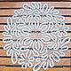 Текстиль, ковры ручной работы. Ярмарка Мастеров - ручная работа. Купить Круглая салфетка д. 34 Вологодское кружево. Handmade.