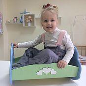 Куклы и игрушки ручной работы. Ярмарка Мастеров - ручная работа Кроватка качалка для кукол «Облако надежд». Handmade.
