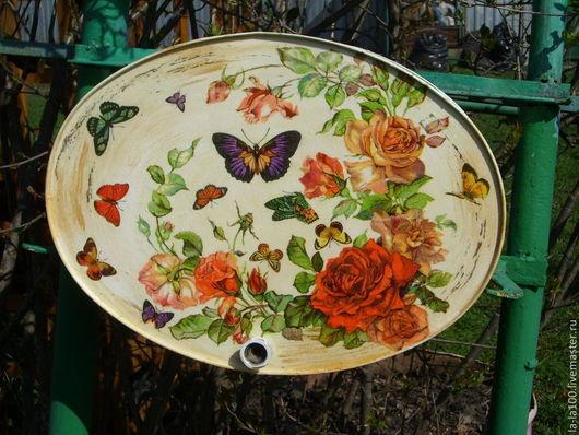 """Экстерьер и дача ручной работы. Ярмарка Мастеров - ручная работа. Купить Дачный рукомойник """" Цветы и бабочки"""". Handmade."""