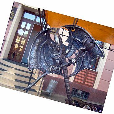 Для дома и интерьера ручной работы. Ярмарка Мастеров - ручная работа Скульптуры: Кованая скульптура – Дракон.. Handmade.