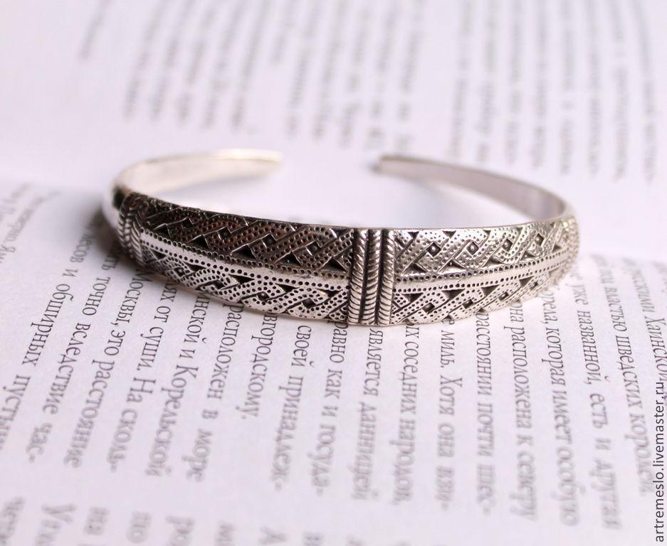 Браслет серебро / Браслет латунь / Браслет женский / Браслет викингов. Браслет из серебра 5500 р.