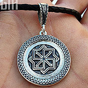 Украшения handmade. Livemaster - original item Guardian Molvinets in the pigtail. Silver 925 art.1010604. Handmade.