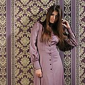 Одежда ручной работы. Ярмарка Мастеров - ручная работа платье цвета какао. Handmade.