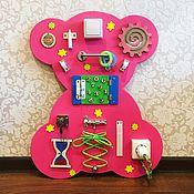 Бизиборды ручной работы. Ярмарка Мастеров - ручная работа Бизиборд Мишка. Handmade.